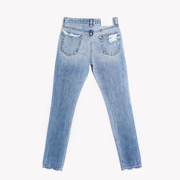 Skinny Aged High Rise Jeans