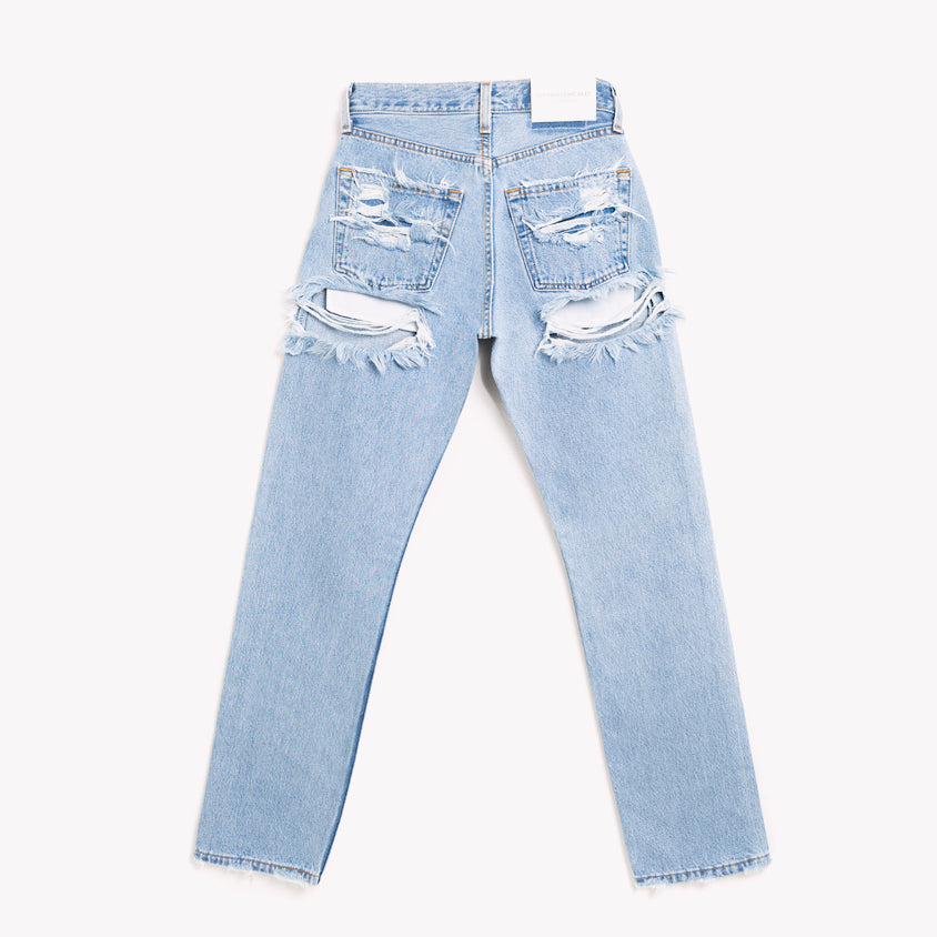 High Waisted Butt Ripped Vintage Jeans