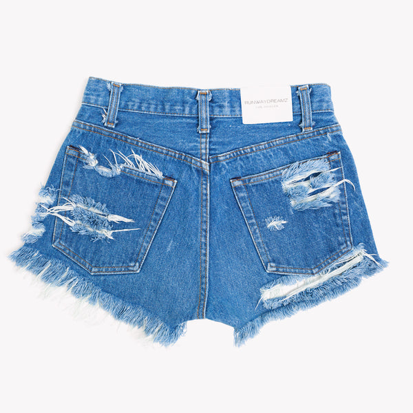 High Rise Butt Rip Vintage Shorts - One of a Kind