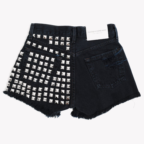Dangers Studded Vintage Black Shorts