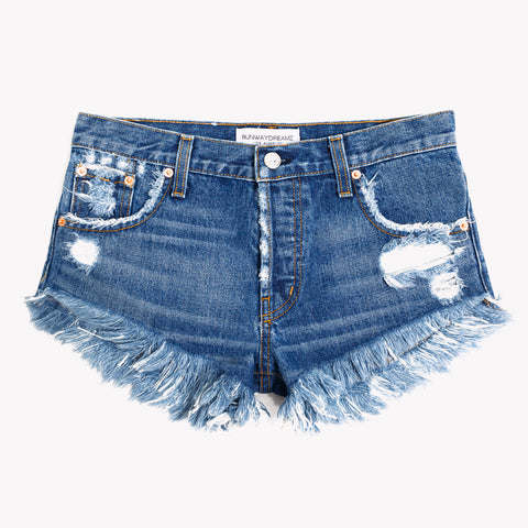 Destroyed Mid Rise Lilit Shorts