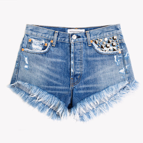 Tresor Inka Studded High Rise Shorts
