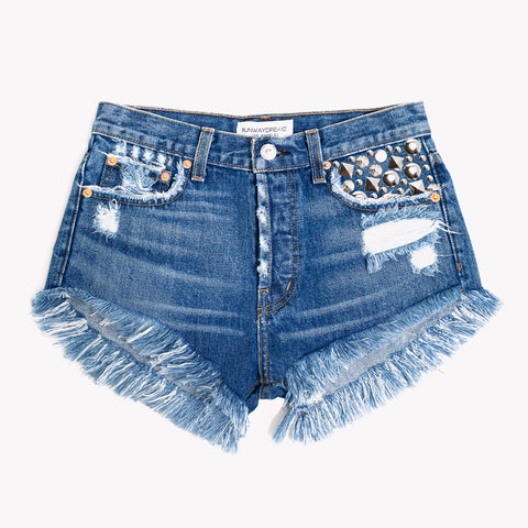 Tresor Lillit Studded High Rise Shorts