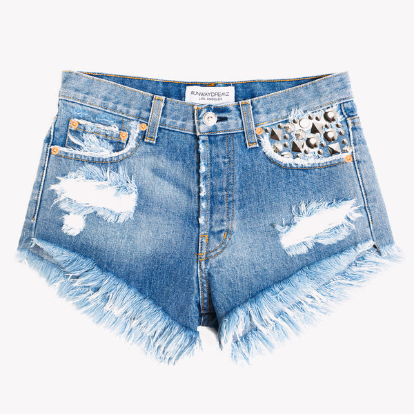 Tresor Aliss Studded High Rise Shorts