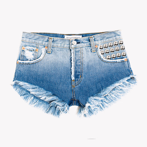 450 Bianca Studded Cut Off Shorts