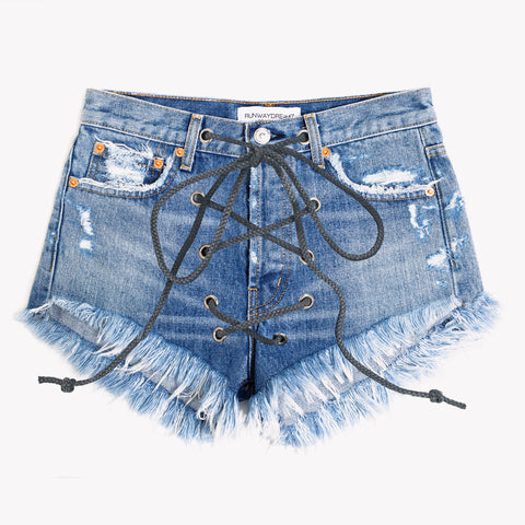 Lace Up High Rise Inka Shorts