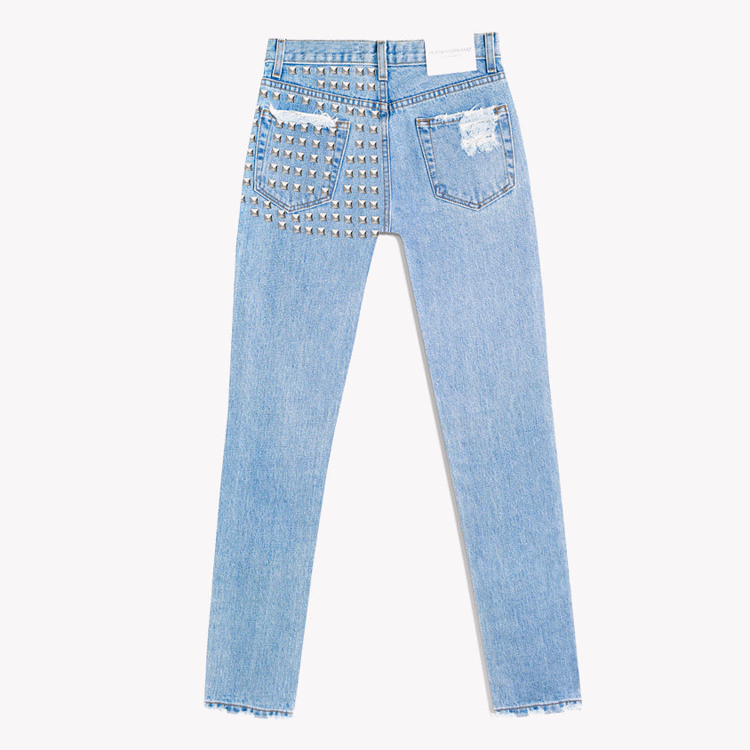 Dangers High Waisted Studded Stonewash Jeans