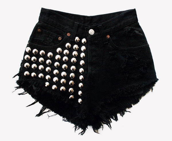 Voldemort Half Studded Frayed Shorts