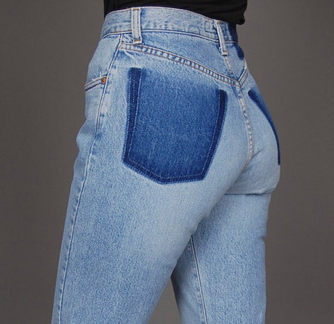 High Waisted No Pocket Vintage Jeans