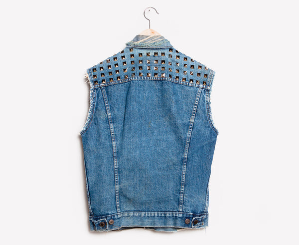RWDZ x Levis Destroyed Studded Vest