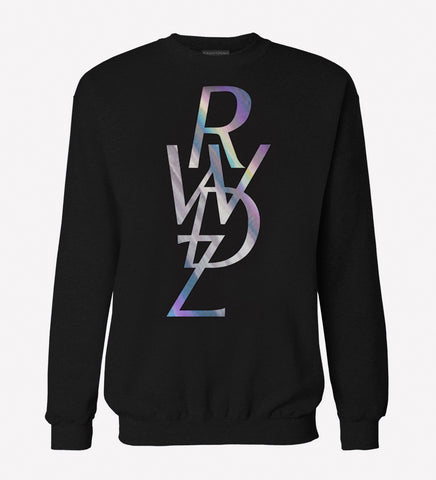 RWDZ Icon Holographic Black Sweatshirt