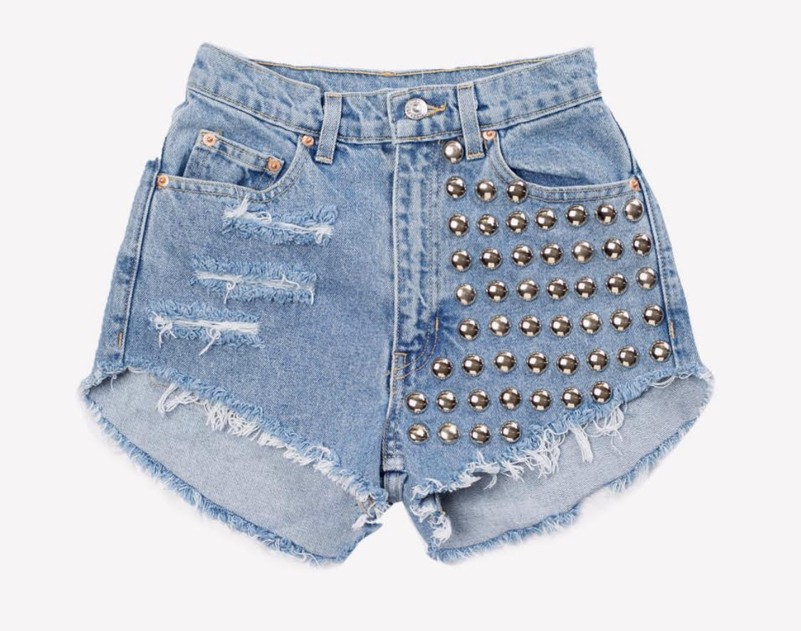 477 Studded Vintage Cut Off Shorts