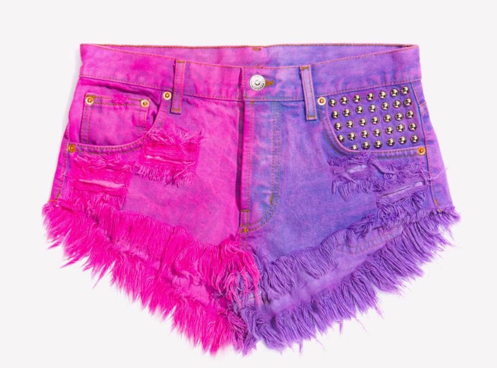 Malibu Bordeaux Studded Babe Shorts - Limited