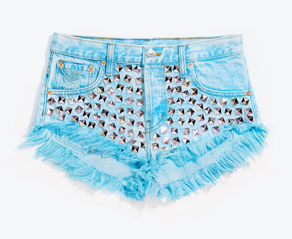 Wunderlust Skyy Studded Babe Cut Off Shorts
