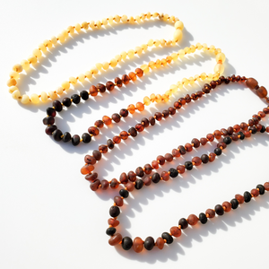 Raw Baltic Amber Teething Jewelry
