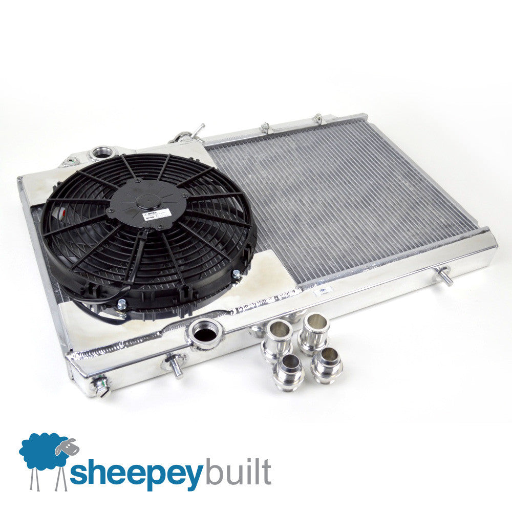 Sheepey Race x CSF - Full-Size Radiator & Fan Kit (Mitsubishi Evo 7 8 9)