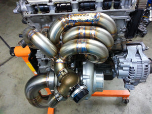 Load image into Gallery viewer, Sheepey Race - Honda H22 H2B Bottom Mount Turbo Manifold
