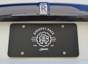 Load image into Gallery viewer, Sheepey Race- Black Sheepey Race License Plate