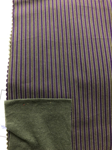 stripe fabric, stripe fashion, stripe skirts, purple clothing, bestowed clothing, slow fashion, slow clothing, behind the scenes, womens fashion online
