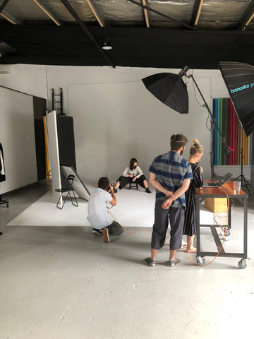 australian photoshoot, behind the scenes, ethical online boutique, slow fashion, well made clothing, well made clothes, well made fashion, esther, beginning boutique,