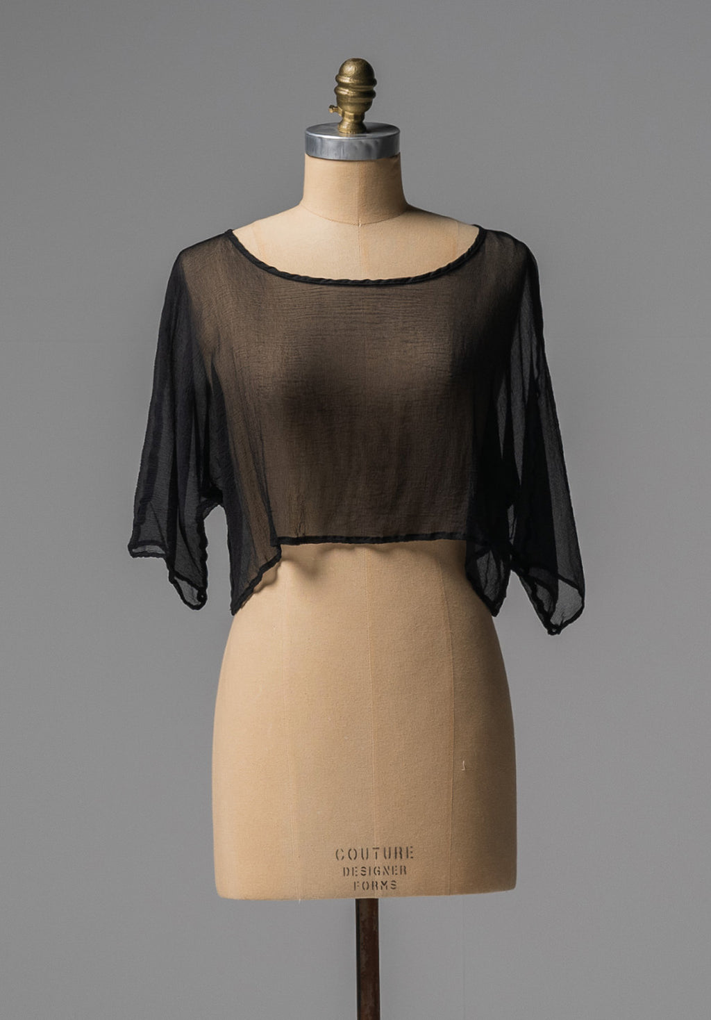 Archive top black silk