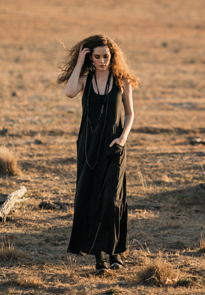 Organic cotton dress, organic cotton maxi dress, ethical fashion online, online fashion boutique, australian made clothing