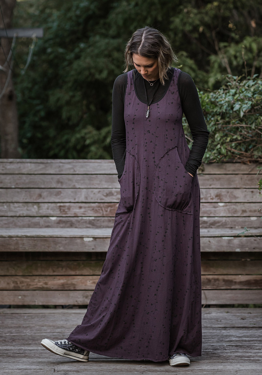 Abby maxi dress blackberry print