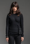 Antidote top black cotton rib