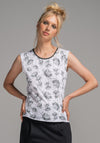Archie tank white dill print