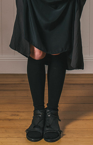 Australian made Bamboo Knee High Socks (black)