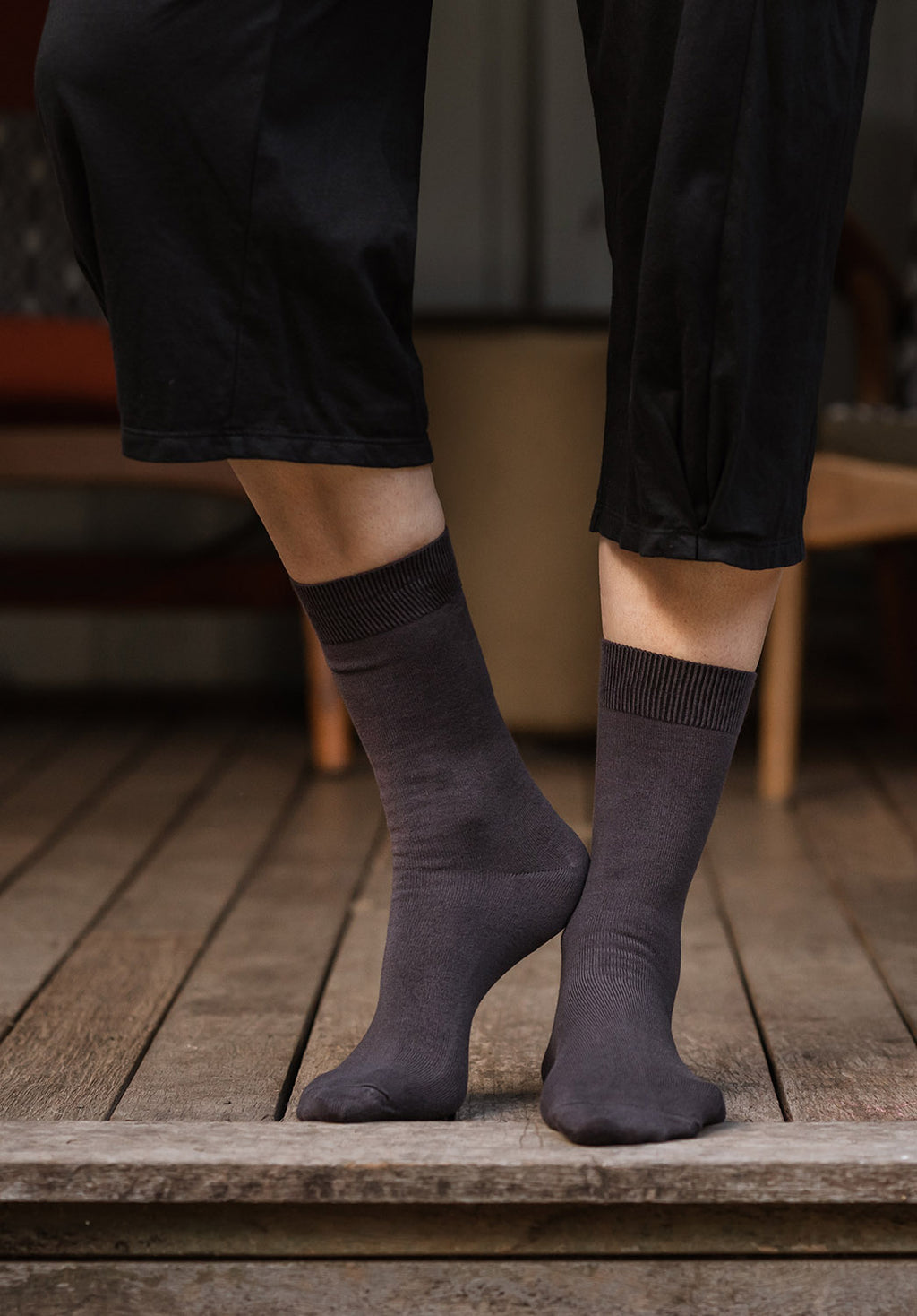 Australian made Bamboo Socks grey (2 sizes)