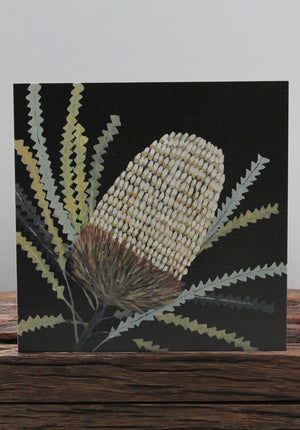 Blue Leaf Banksia Card