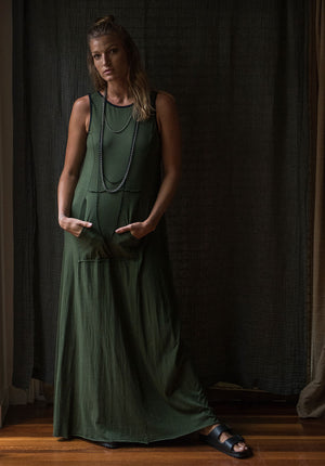 Blythe Maxi dress forest