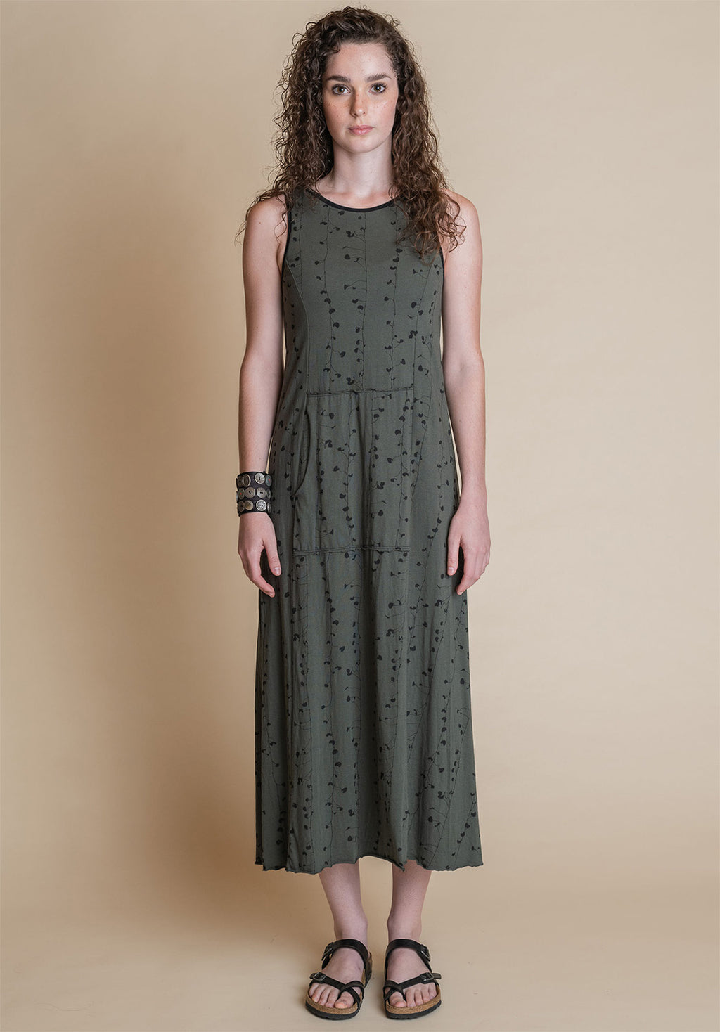 Blythe midi dress dill print