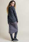 Camille long cardi shadow print