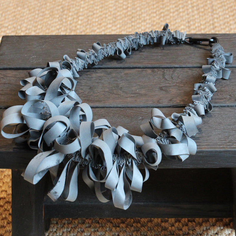Rubber Ruffle Necklace