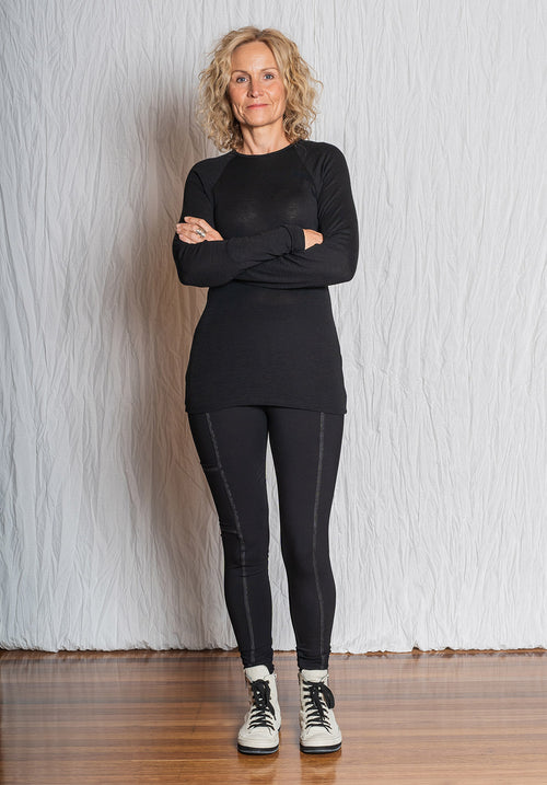 Cuddle top black merino