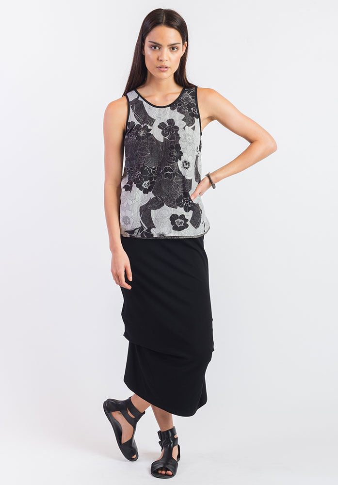reversible Edit top montage blk/grey