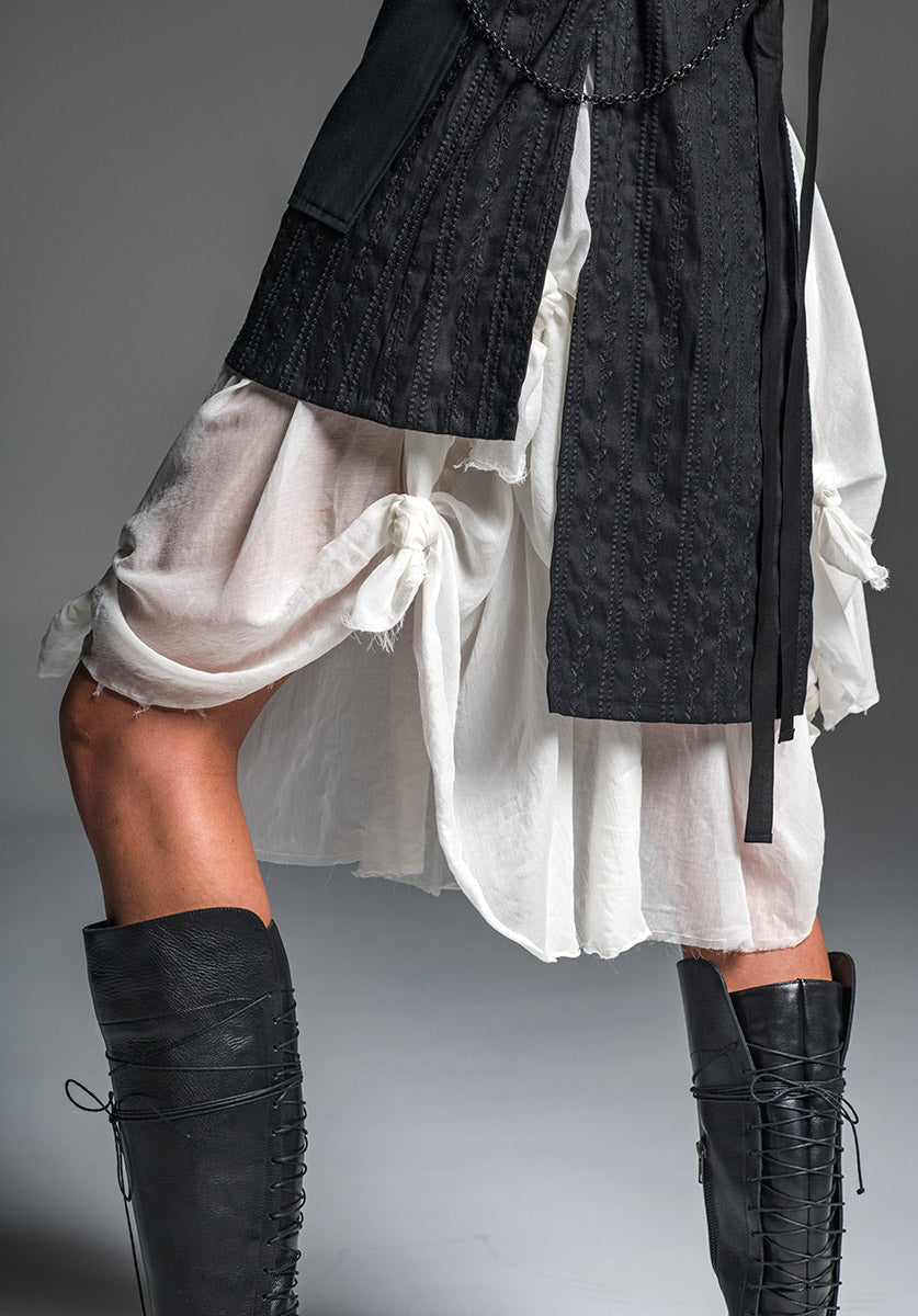 Enigma skirt 2-tier all natural