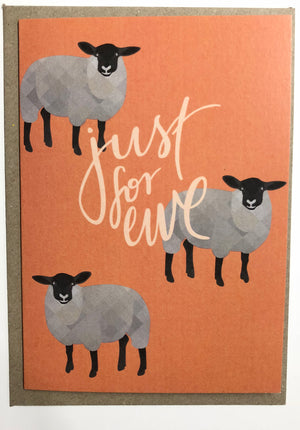 Just For Ewe Greeting Card