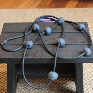 Felt & rubber necklace