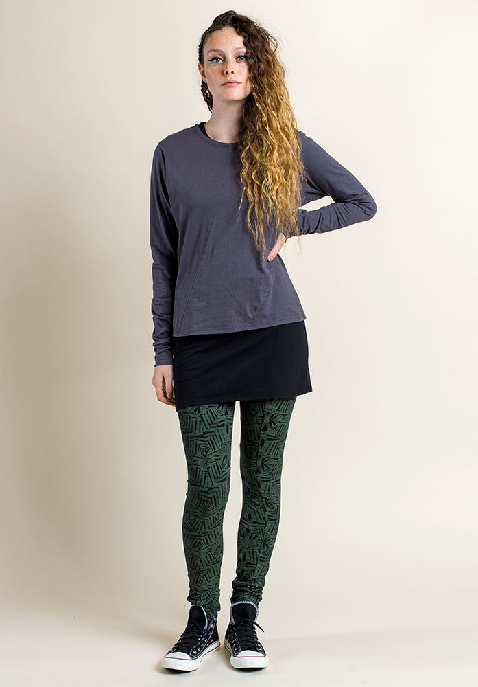 Fern print legging in fern