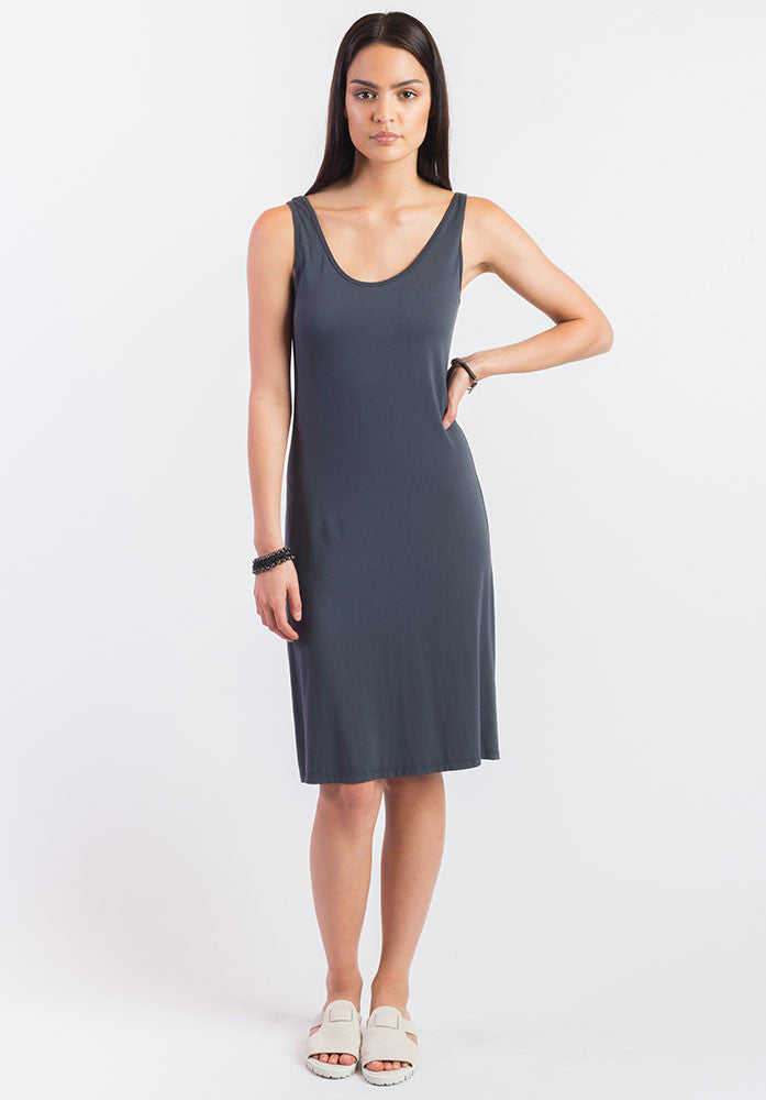 Greta slip charcoal | Bamboo Eco Fashion | Sustainable Clothing