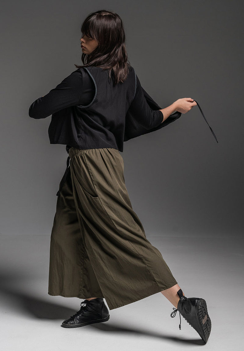 Grove pant olive tencel cotton