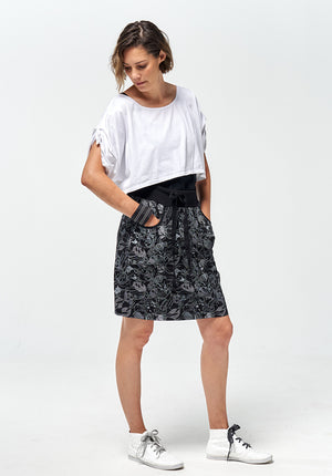 Harmony short skirt black print