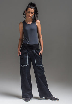 Obsidian top charcoal | Sustainable Bamboo Fashion | Eco Clothing