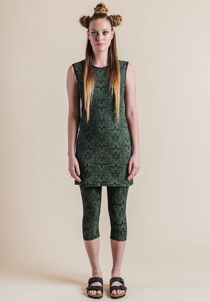 Josie tank dress fern print