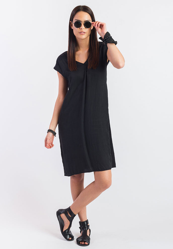 Juxtapose dress black cupro