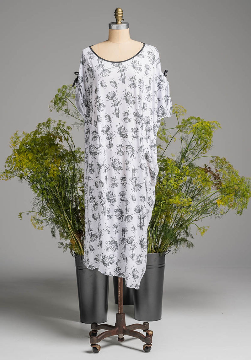 Lore dress white dill print