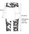 Maggie 3/4 skirt/pant shadow print